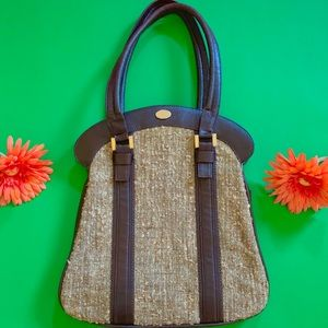 Vintage 1970s minimal carpet bag neutral tone